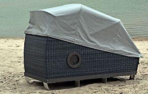 Strandkorb anthrazit